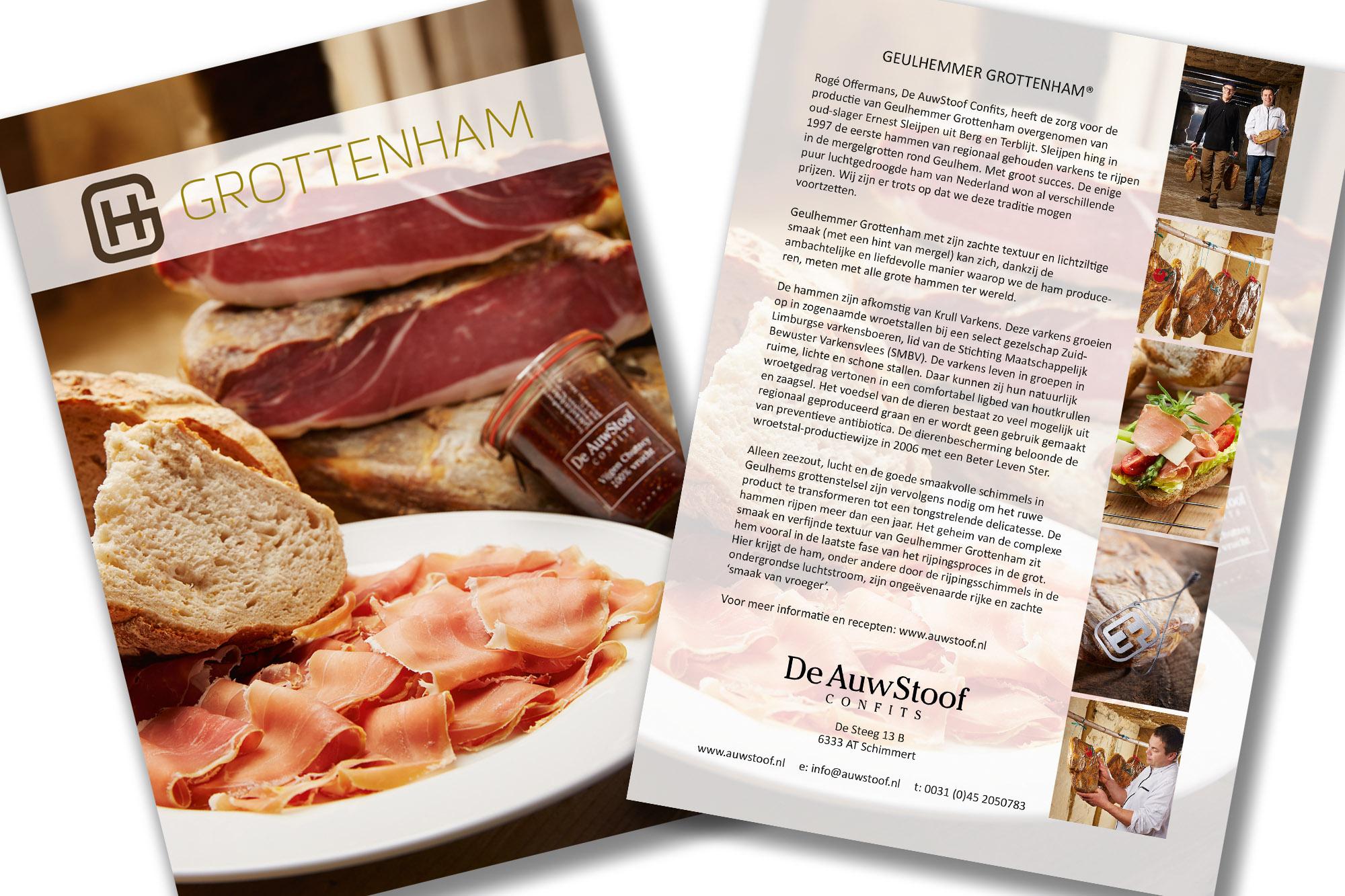 SPUISERS Auwstoof grottenham mergelgrotten Geulhemmer culinair ham drukwerk grafische vormgeving dtp flyer kaart