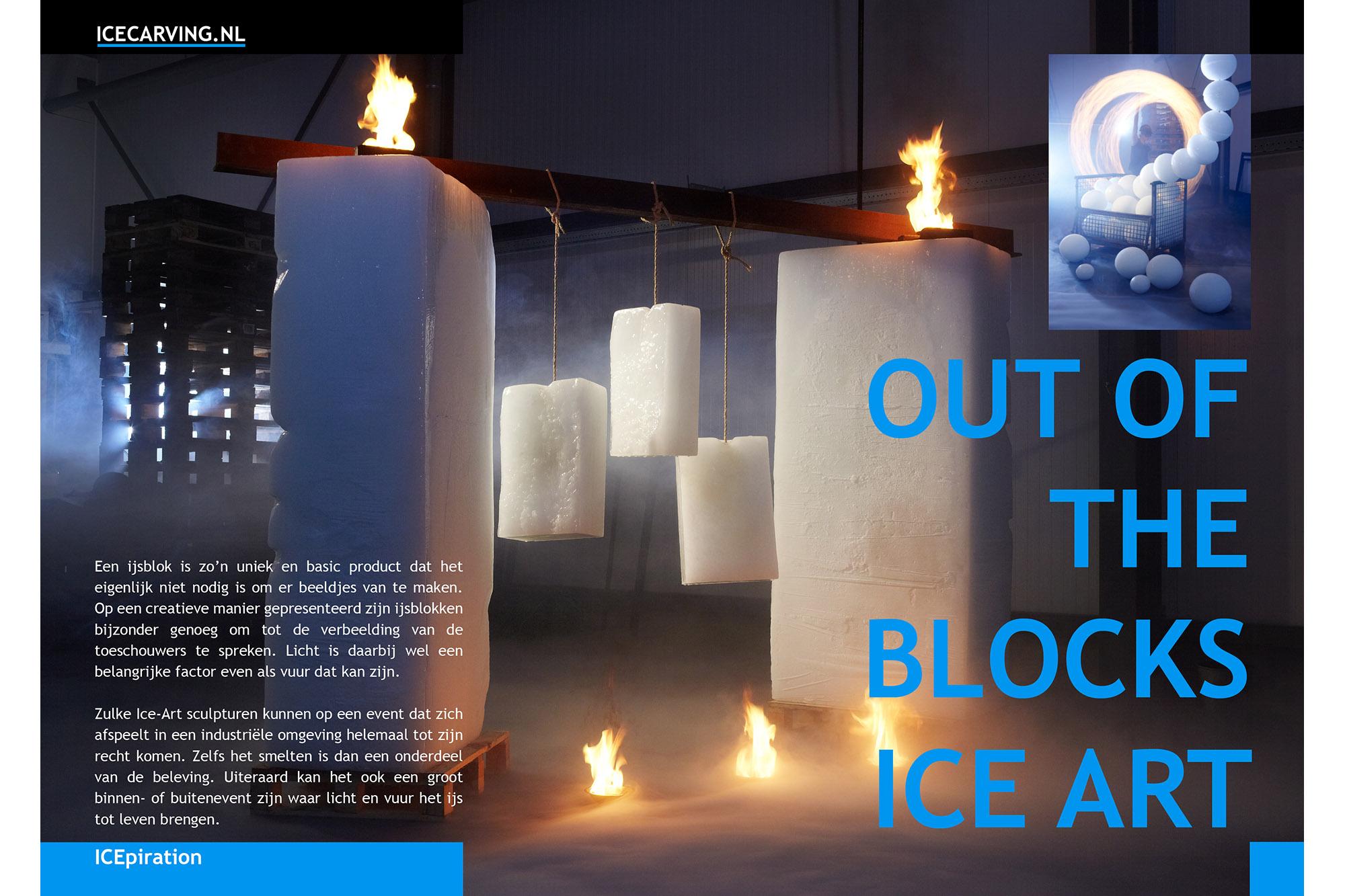 SPUISERS icecarving ijs beelden