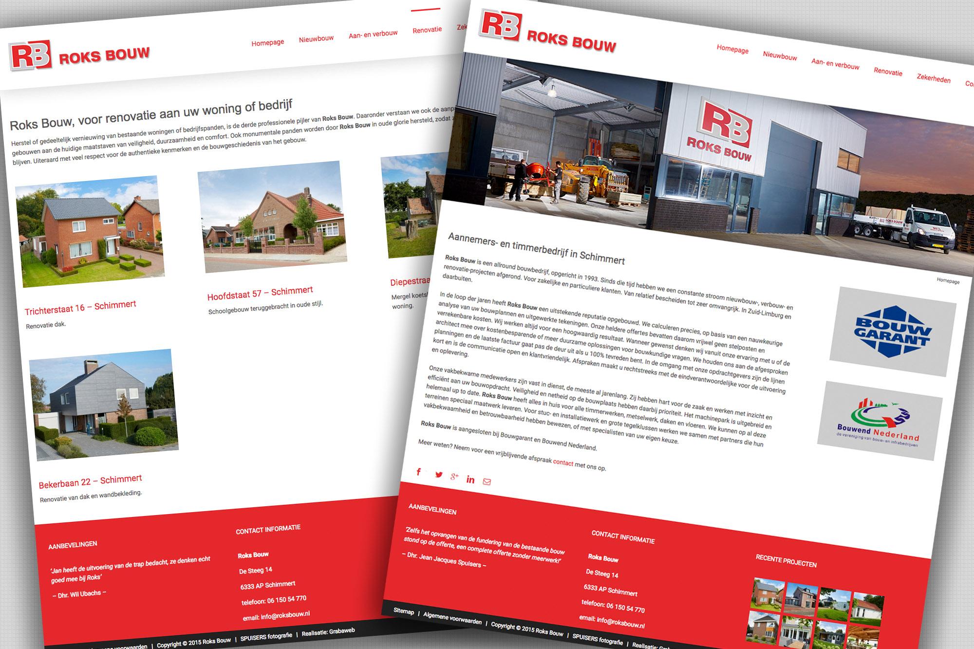 SPUISERS bouw website Roks Bouw Grab a Web