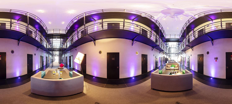SPUISERS fotografie 360 graden foto cellenblok hotel Het Arresthuis Roermond Limburg